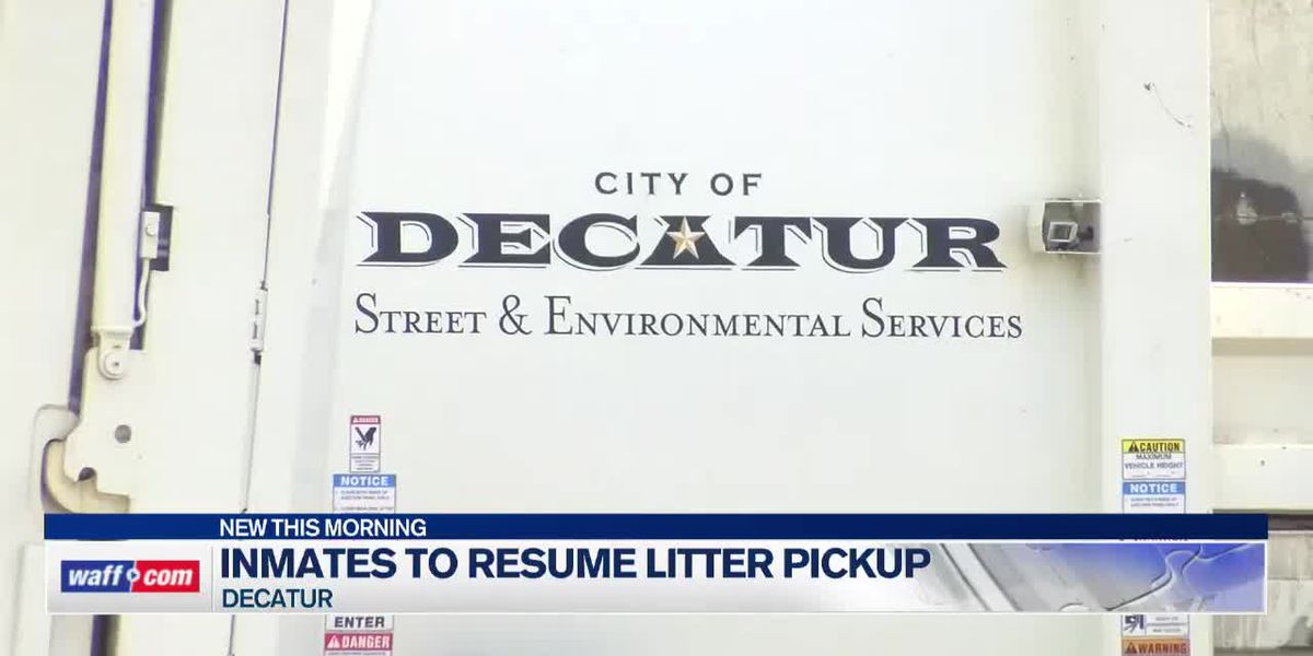 Inmates to resume litter pickup in Decatur