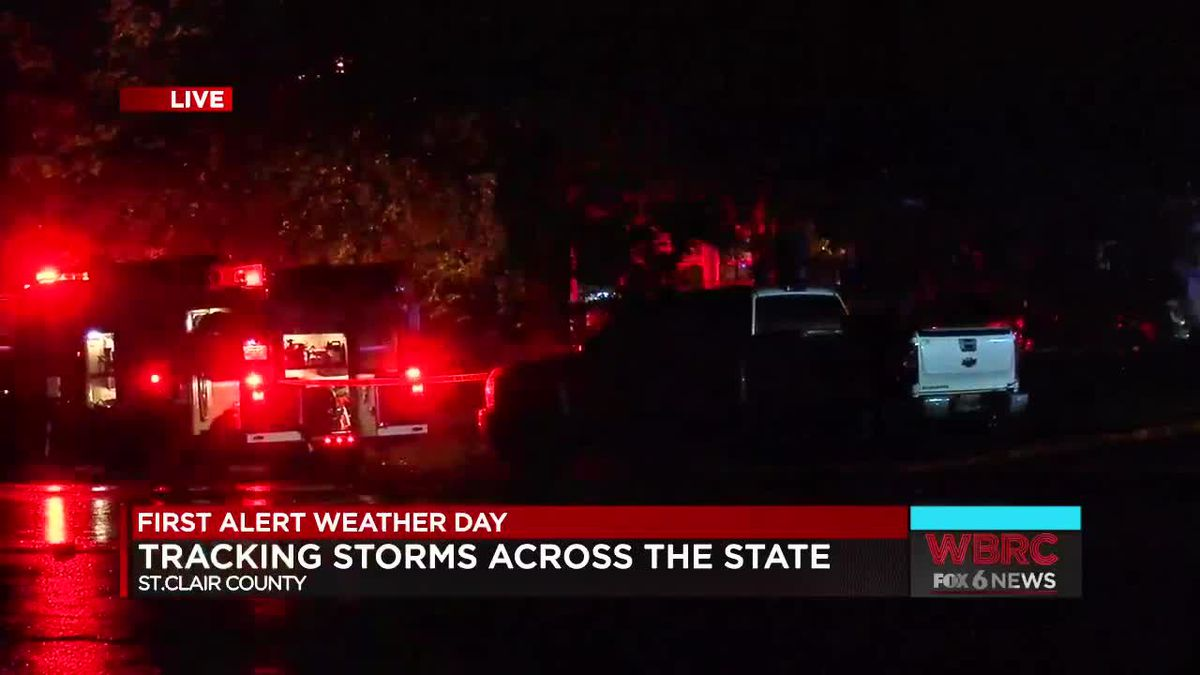 Woman killed when tree fell on home in St  Clair Co