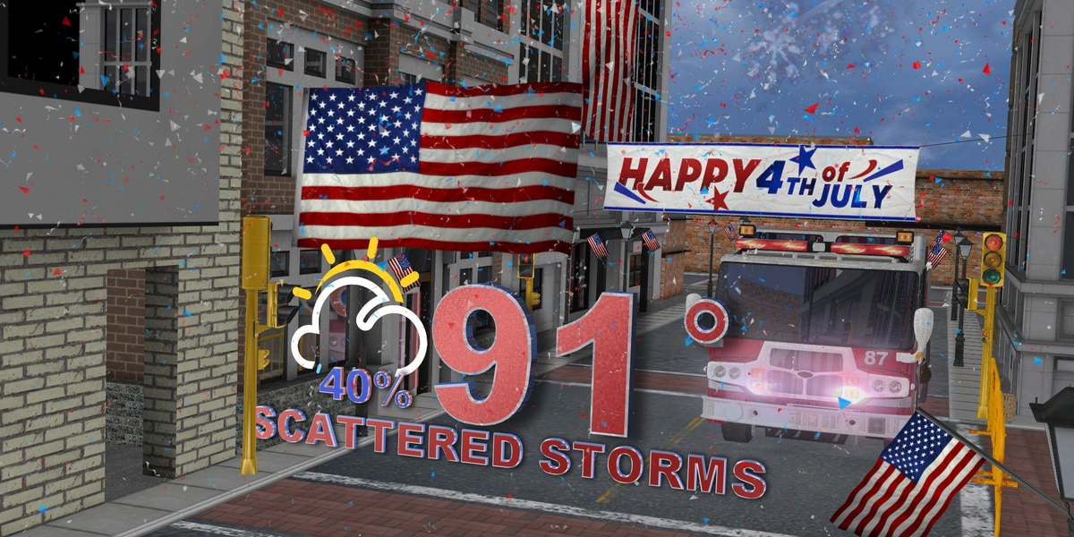 Scattered rain ahead of July Fourth