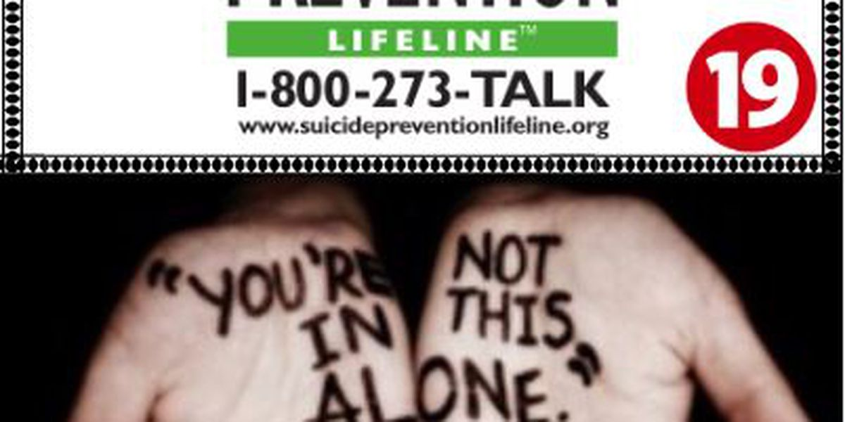 Sunday kicks off National Suicide Prevention Week