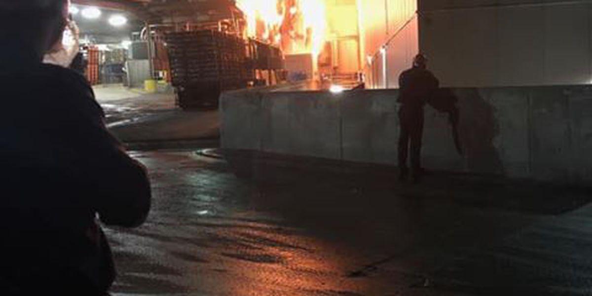 Fire at Pilgrim's Pride chicken plant due to ammonia leak