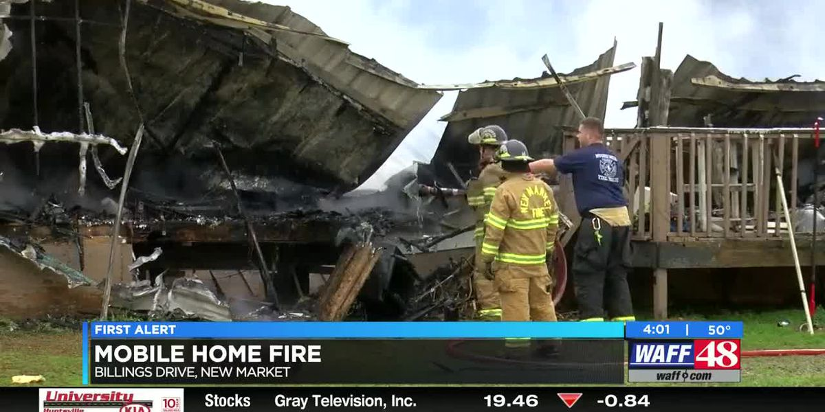 New Market mobile home fire