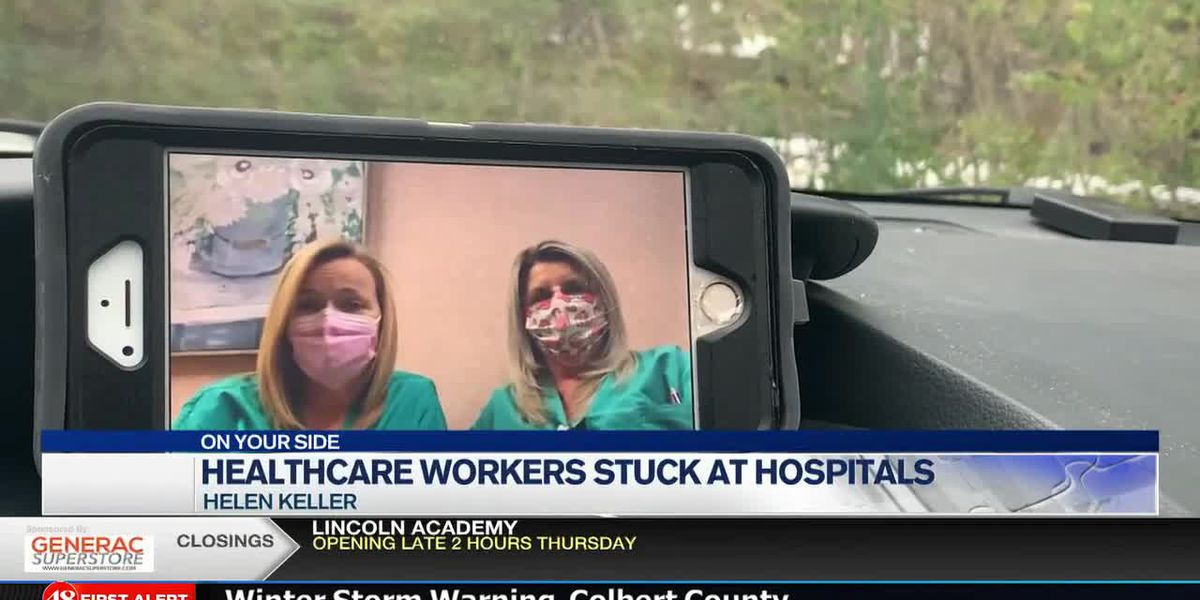 Nurses continue to battle the frontlines; sleeping overnight at hospital during winter storm
