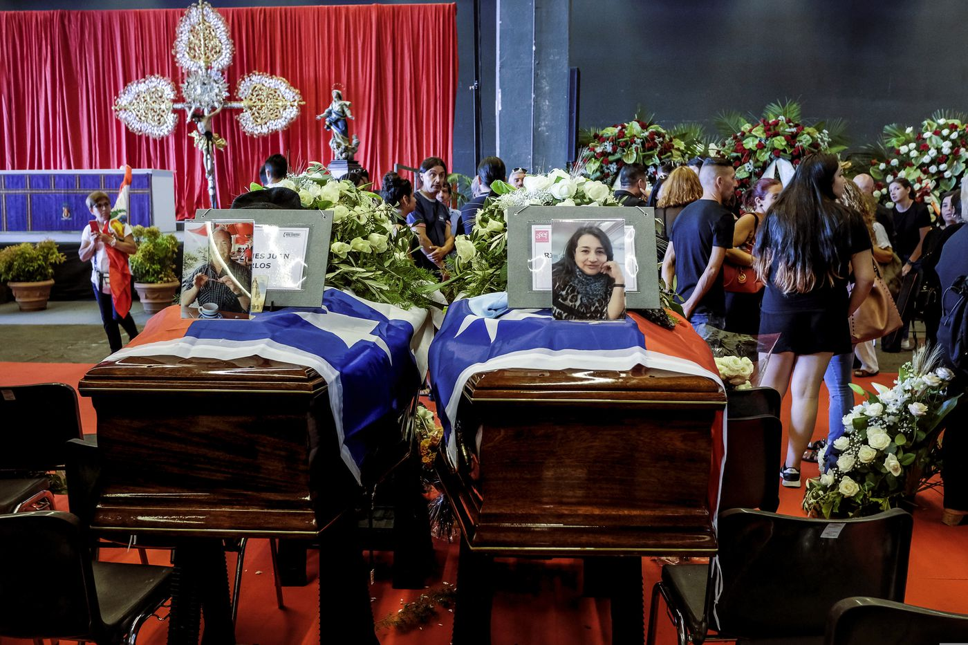 The latest romanian trucker is genoa bridges 43rd victim the coffins of juan carlos pastenes and his wife nora rivera from chile are izmirmasajfo