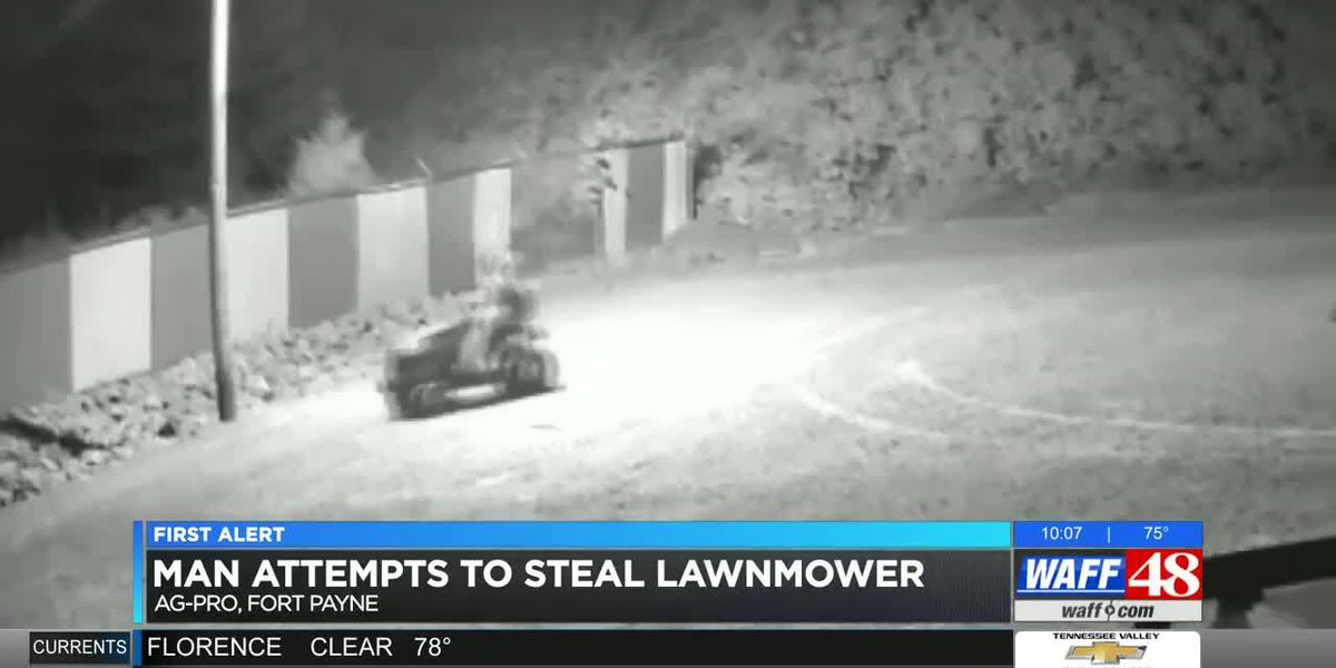 Man sought in failed riding mower theft in Fort Payne