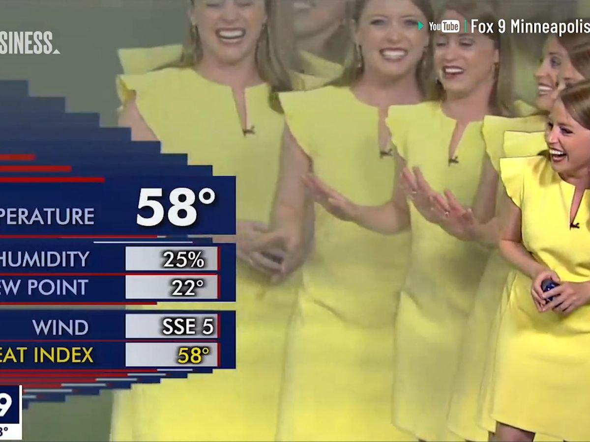 Weather reporter 'multiplies' in hilarious graphics error on live TV