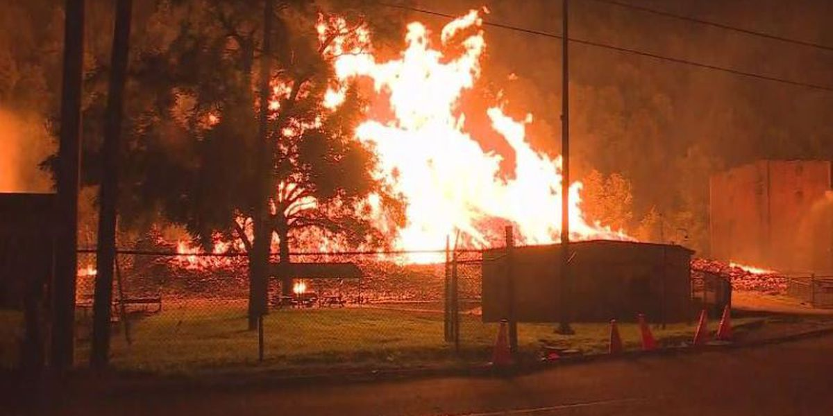 Jim Beam warehouse burns with 45000 barrels of bourbon inside