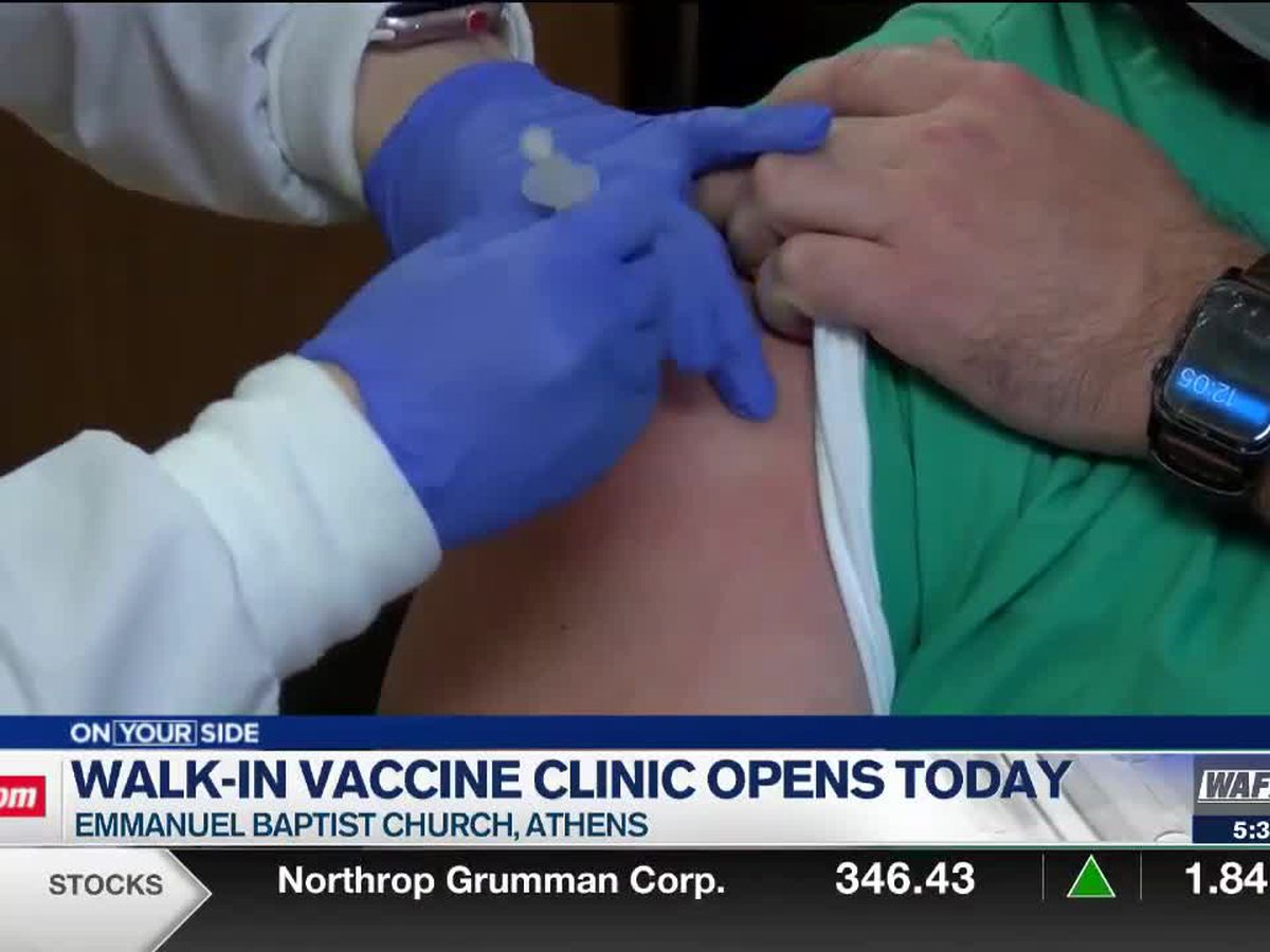 Limestone County walk-in COVID-19 vaccine clinic opens Monday