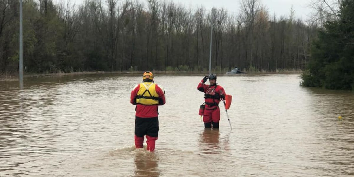 Water rescue in Falkville