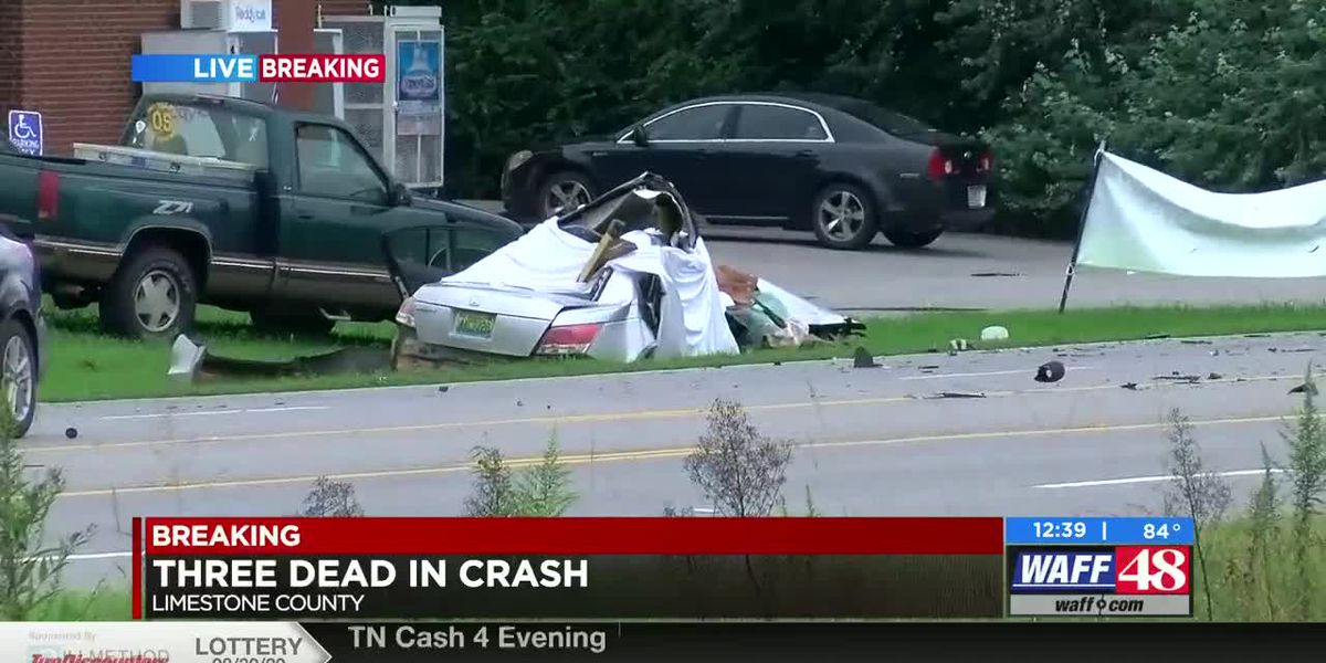 State Troopers confirm three deaths in Limestone County crash