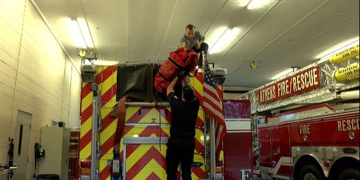 Athens firefighters save girl stuck in creek