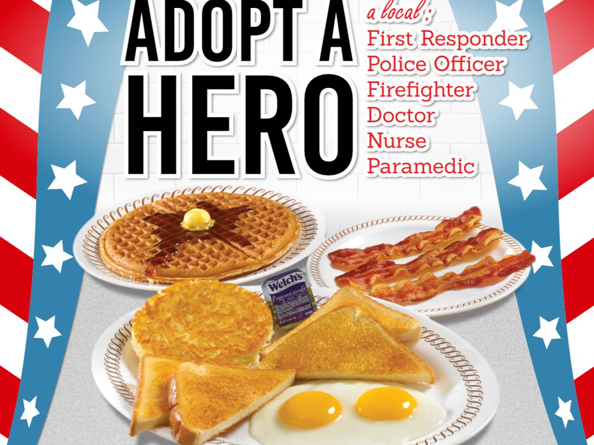 """Adopt a Meal for Heroes"" at Waffle House"