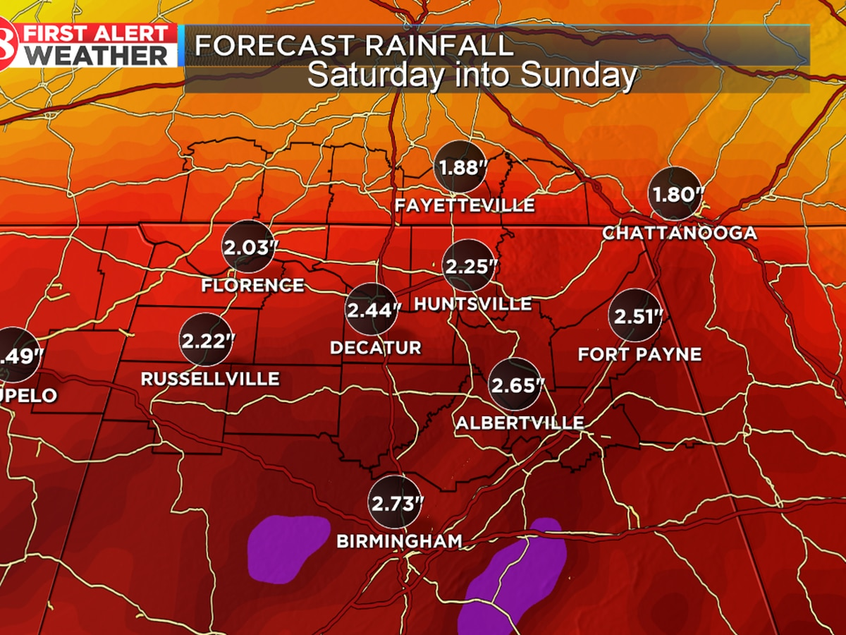 Overnight lows in 20s; rainy weekend ahead