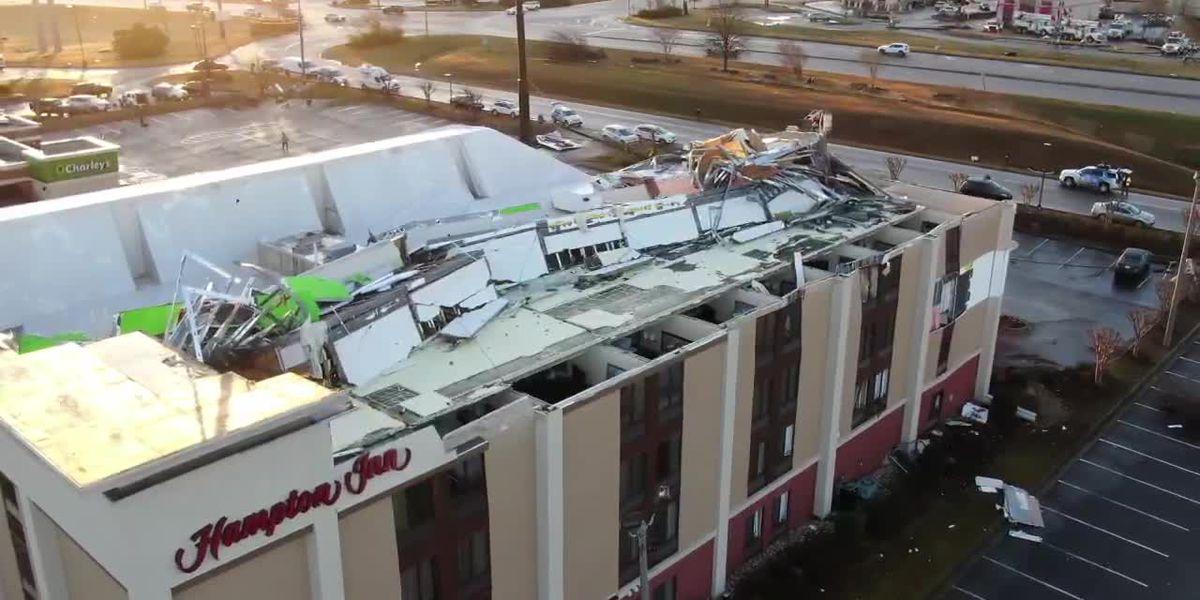 WBRC SkyTracker: Fultondale hotel severely damaged in EF-2 tornado