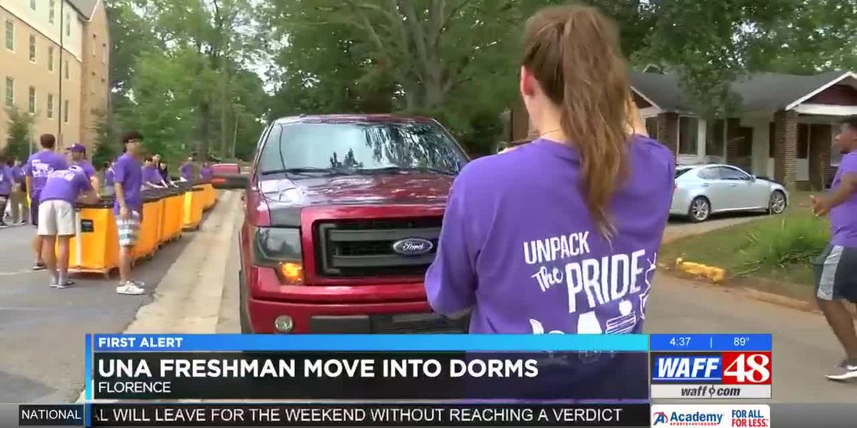 UNA students move-in ahead of new school year