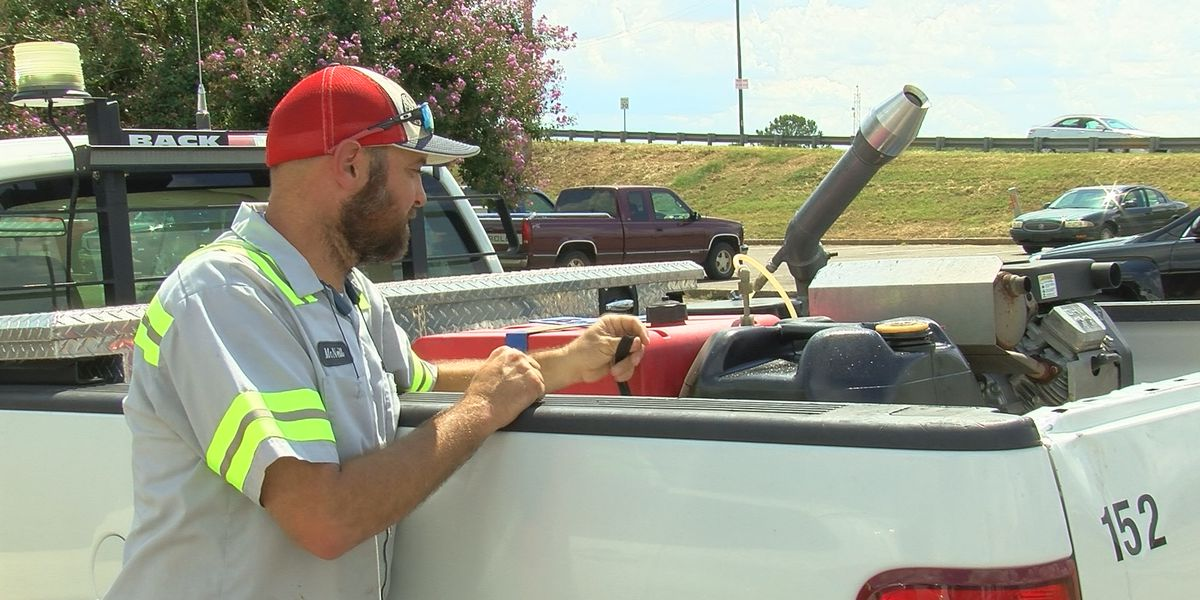 Spraying for mosquitoes in Decatur