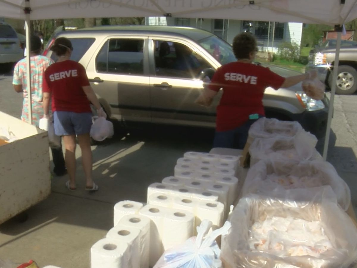 Salvation Army of the Shoals gives out food, toilet paper