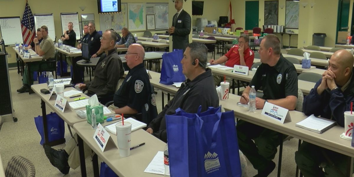 Police officers arrive in Guntersville for school resource officer training