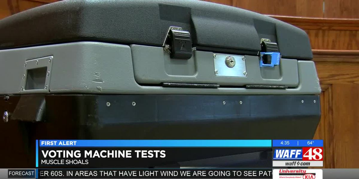 Polling officials to test voting machines in Muscle Shoals