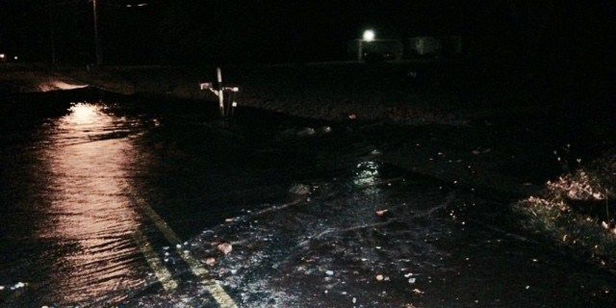 Water main break in Madison Co. may stop some showers this morning.