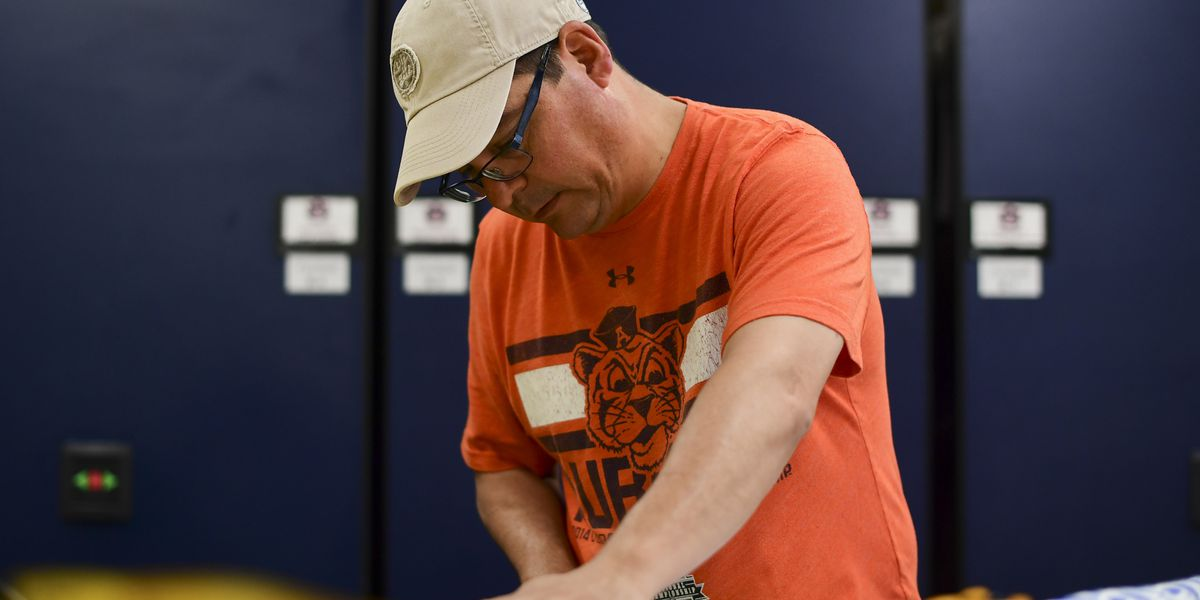 Auburn equipment manager 'sews' how to help during COVID-19
