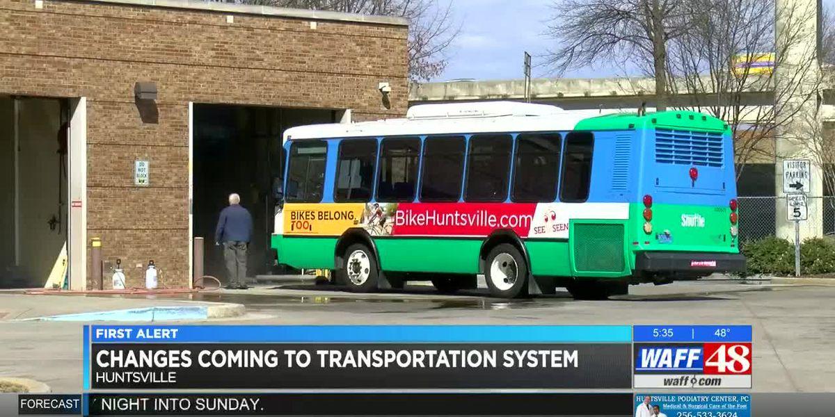 Huntsville's transportation department to implement service changes after transportation study