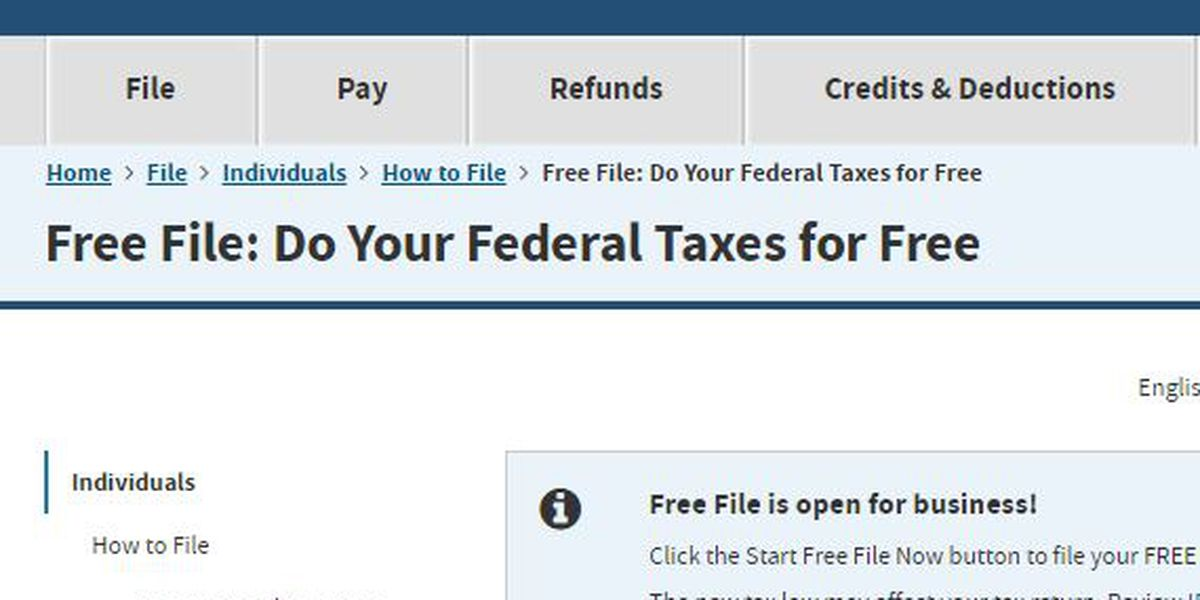 E-filing taxes could be free depending on income