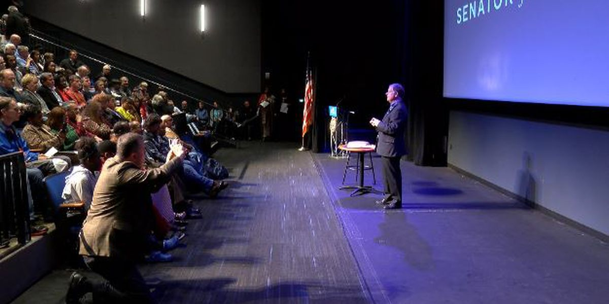 Doug Jones hosts town hall in Huntsville