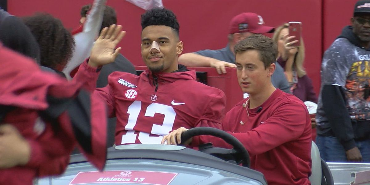 Watch! Tua Tagovailoa arrive at Bryant-Denny Stadium
