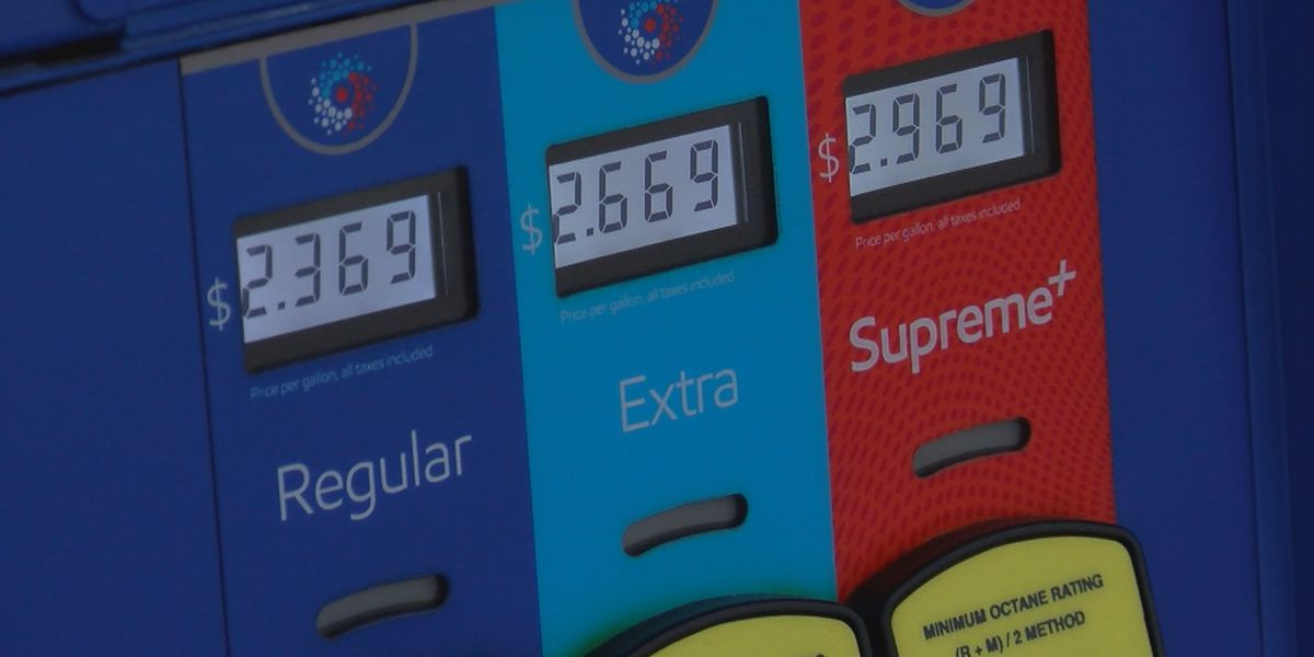 Gas prices rising due to tropical storm Barry
