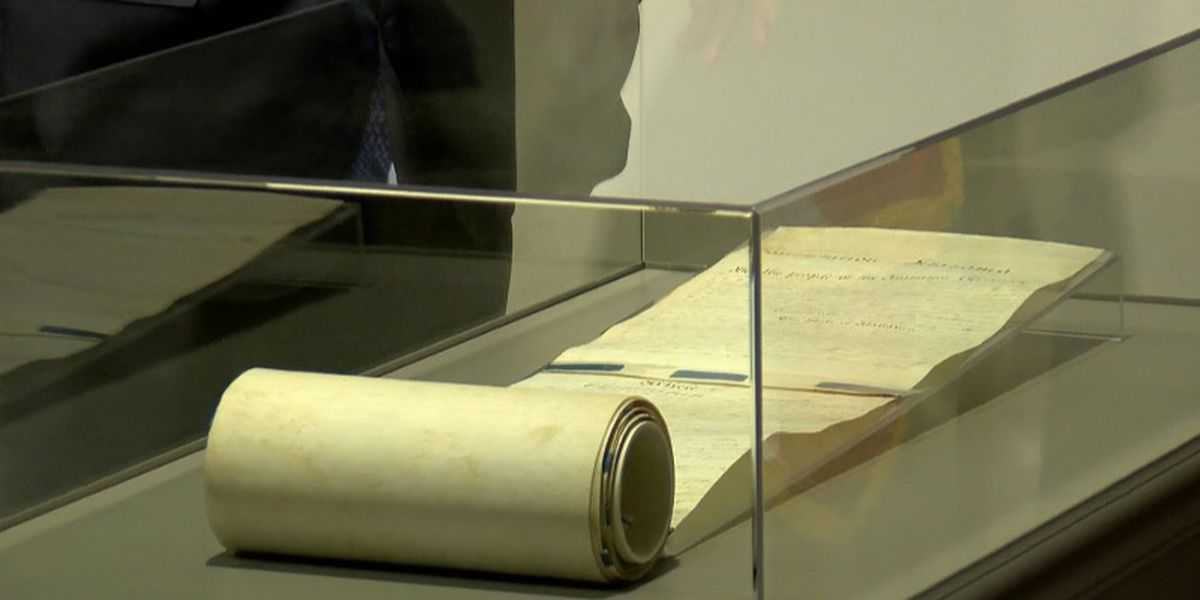 Alabama's constitutions now in Huntsville, on display for the first time
