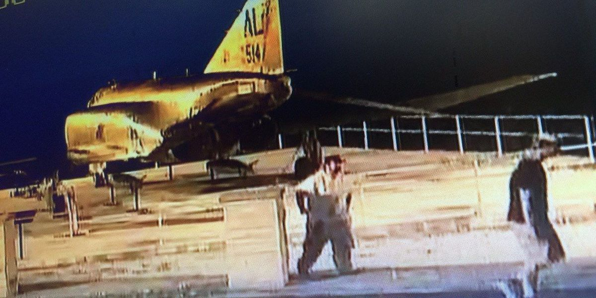 FIRST ALERT: 2 men caught on tape damaging, urinating on veterans memorial--More on WAFF 48 News Today