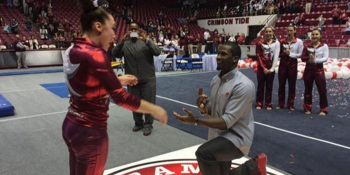 Alabama gymnast accepts marriage proposal after home meet