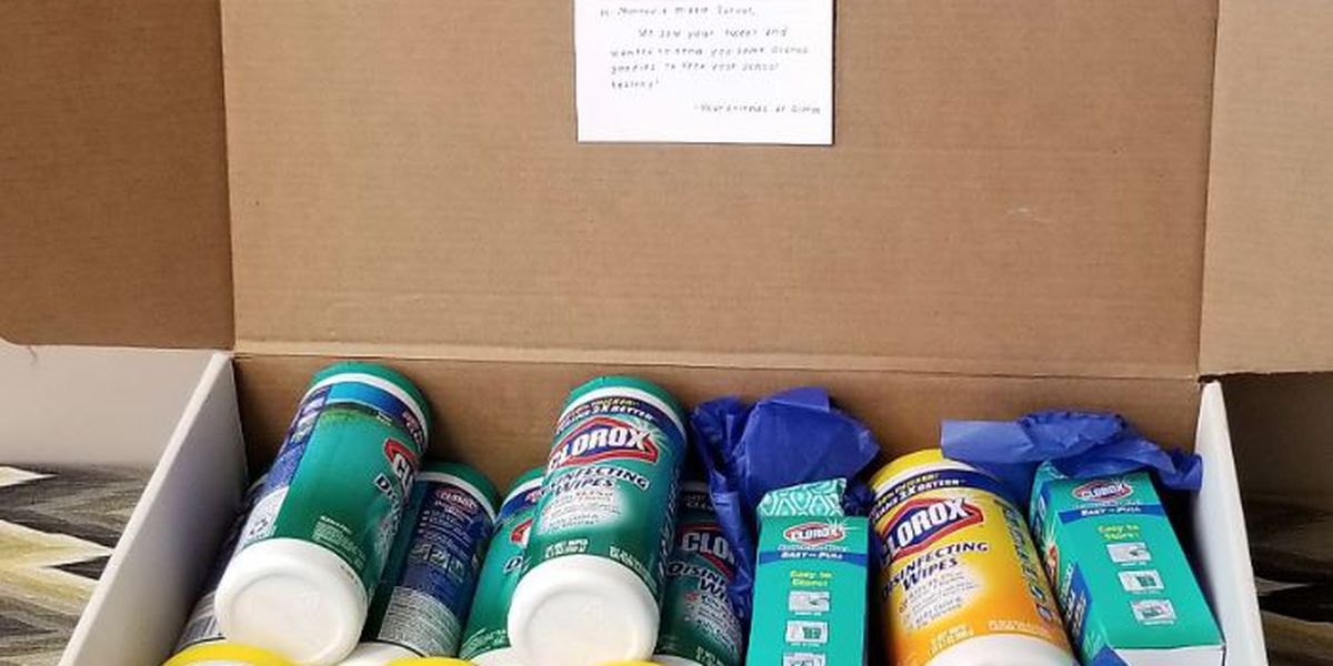 Clorox donates wipes to Madison Co. middle school