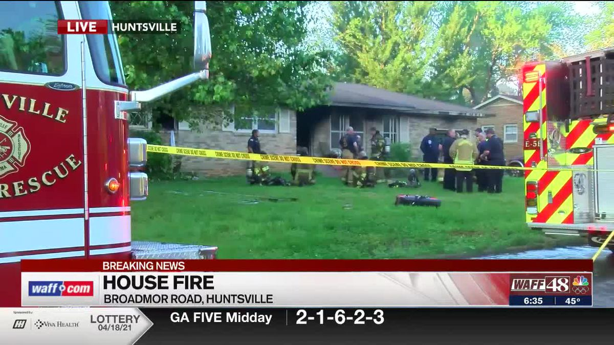 Huntsville crews confirm 1 fatality in Broadmor Road house fire
