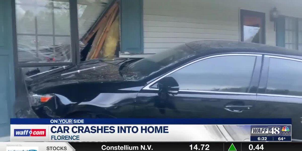 Car crashes into Florence home