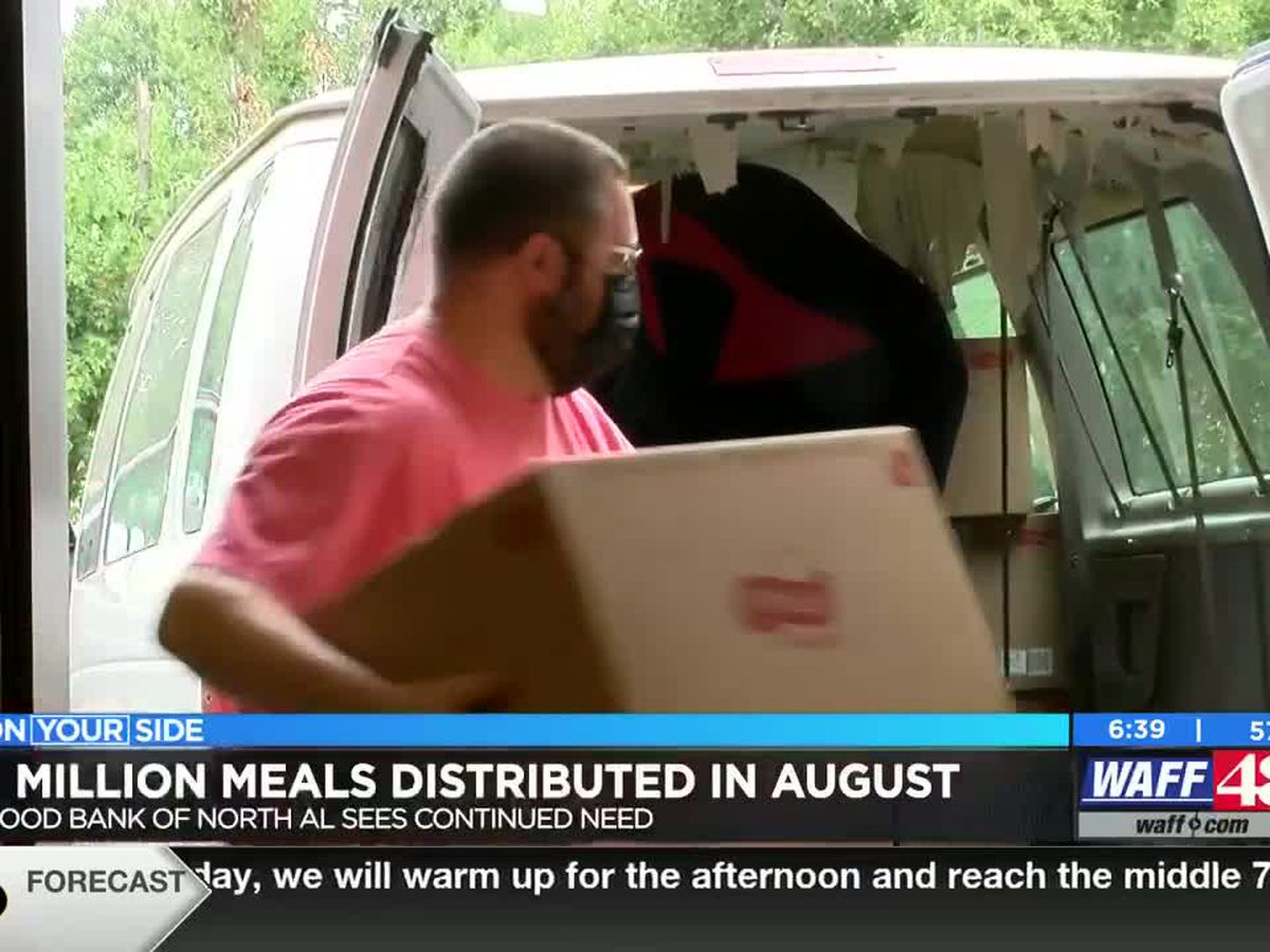 Food Bank of North Alabama distributes 1 million meals in a single month