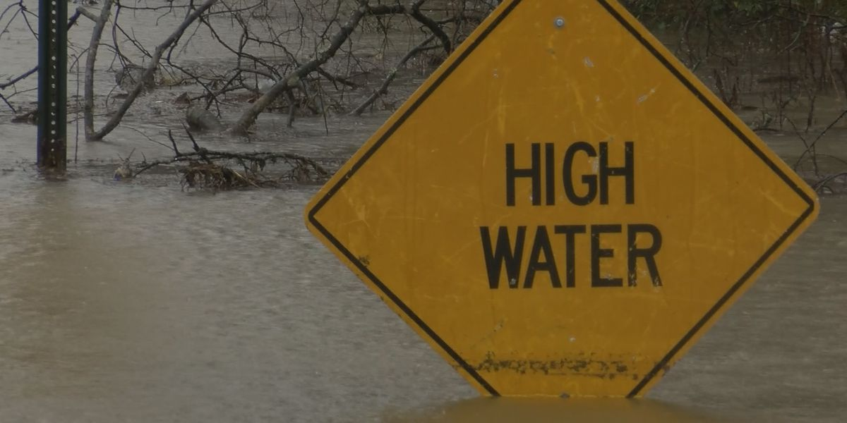 Floodwaters impacting roads around Lacey's Spring