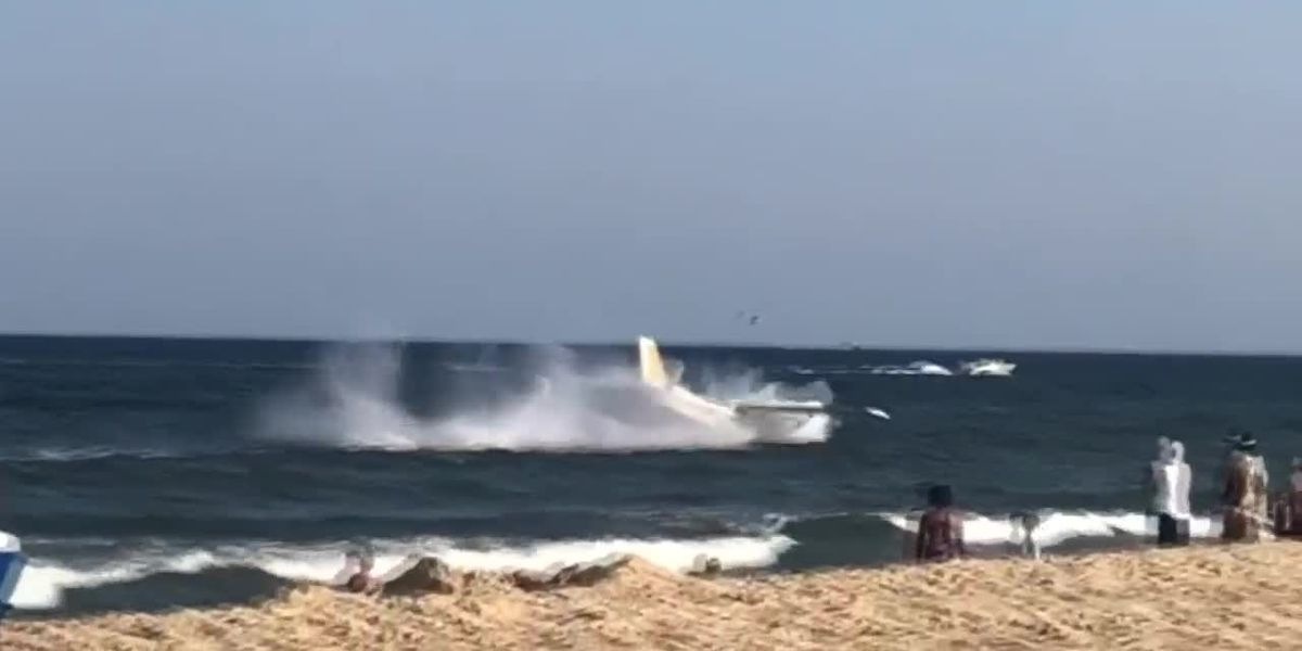 Plane crashes into ocean in Md. | Video: Graysen Levy