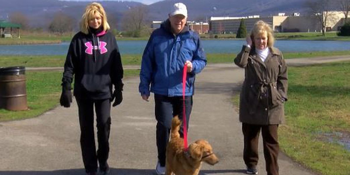 Rep. Brooks takes WAFF service dog in training on morning walk