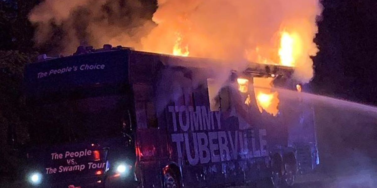Tuberville campaign asks for help fixing bus that burned