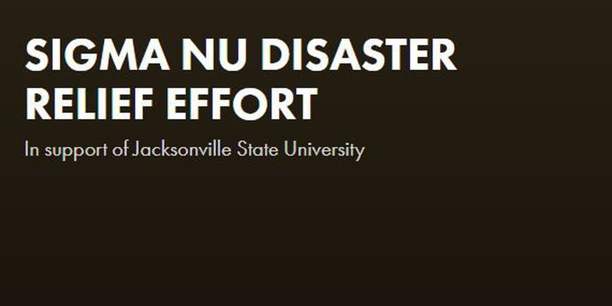 Local chapter of Sigma Nu Fraternity raising money for JSU storm victims