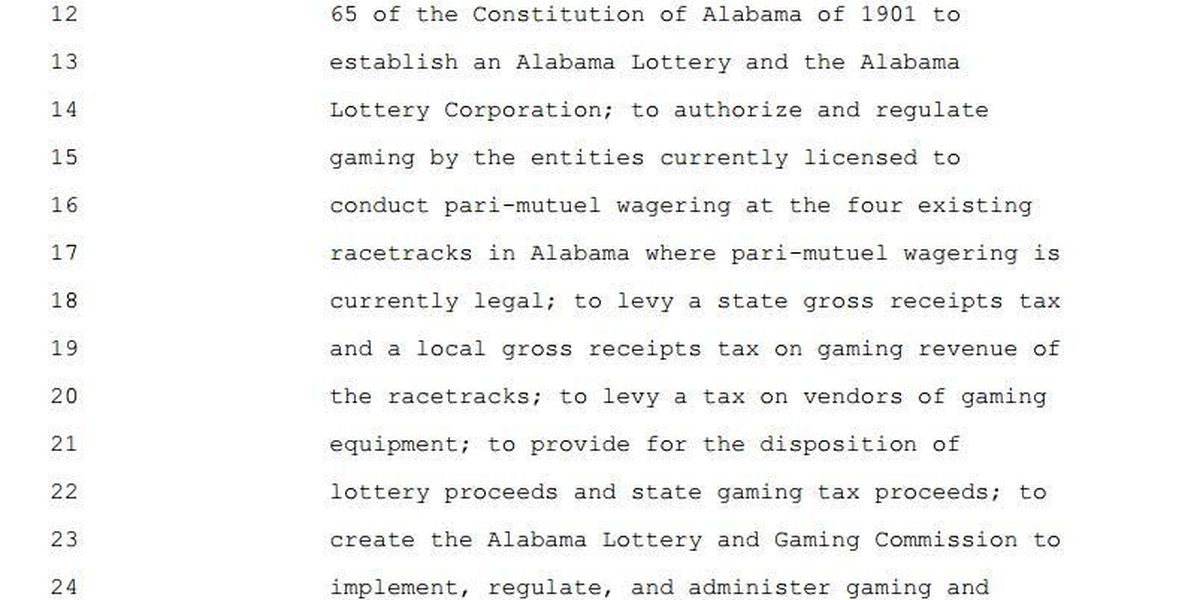 New lottery bill introduced in AL House: former lawmaker doubts the issue
