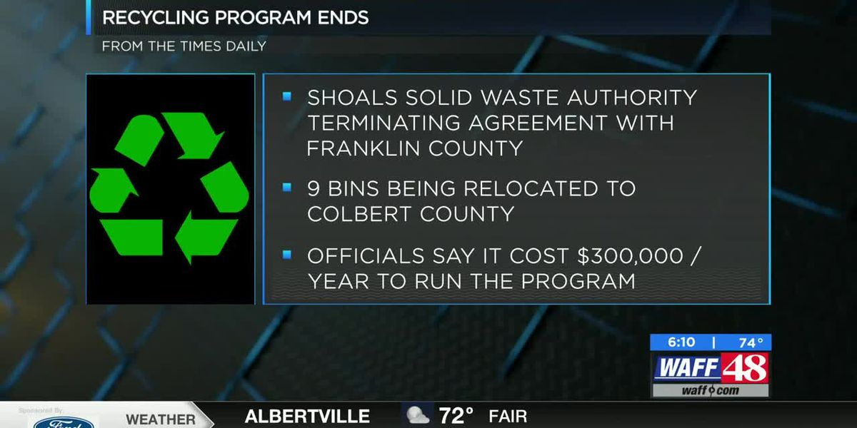 Franklin County recycling program comes to an end