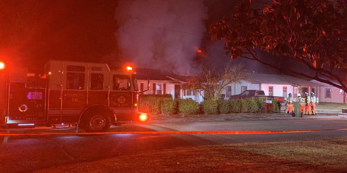 Huntsville firefighters investigate house fire on Dellbrook Drive