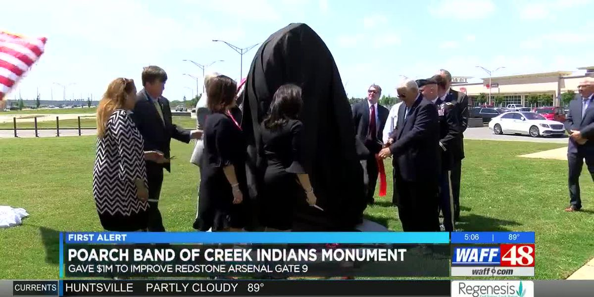 Redstone Arsenal unveils new monument to recognize the Poarch Band of Creek Indians
