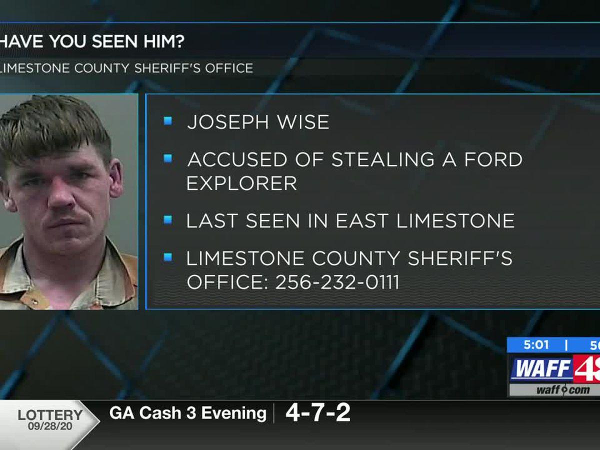 Help the Limestone County Sheriff's Office locate Joseph Wise