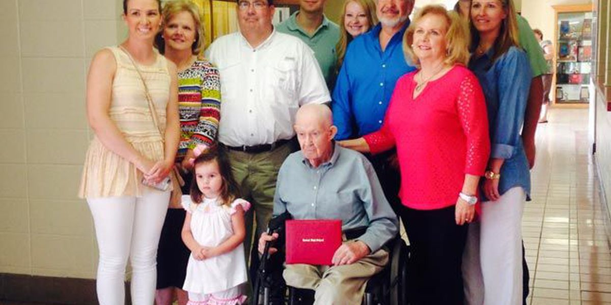 70 years after WWII service, Shoals man receives high school diploma