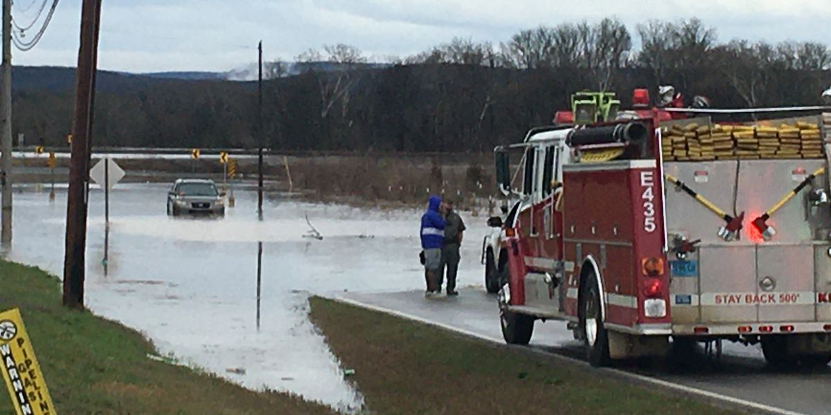 Flooded streets in Madison County; water rescues throughout the day