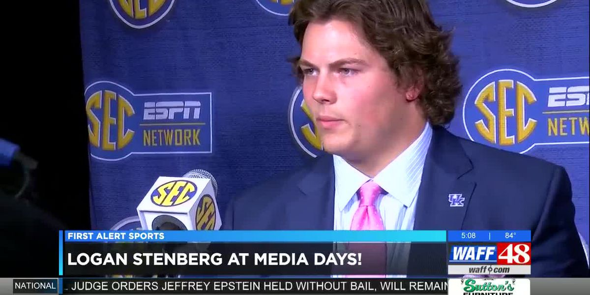 Logan Stenberg at SEC Media Days